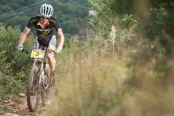 The Western Cape awaits the weekend of thrilling cross-country action ahead of the Stihl 2016 SA XCO Cup Series at Helderberg Farms on Saturday 27 February. Pictured here, Matthys Beukes of Team LCB/Scott Racing. Photo: Andrew McFadden / BOOGS Photography